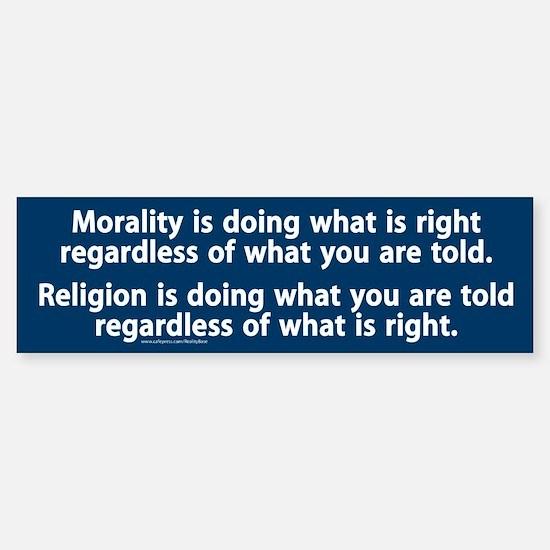 Morality v. Religion Bumper Bumper Bumper Sticker