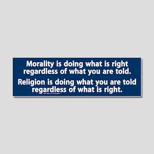 Morality v. religion Car Magnet 10 x 3