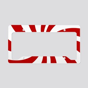 Xmas candy cane swirls License Plate Holder