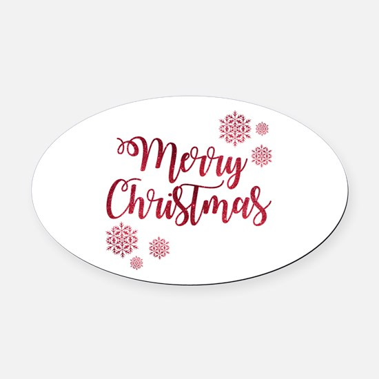 Cute Womens holiday Oval Car Magnet