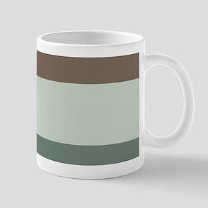 Sage Espresso brown Stripes Mugs
