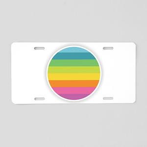 Rainbow Circle Aluminum License Plate
