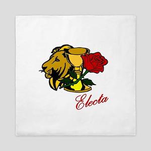 Electa Lion Cup Rose Design Queen Duvet