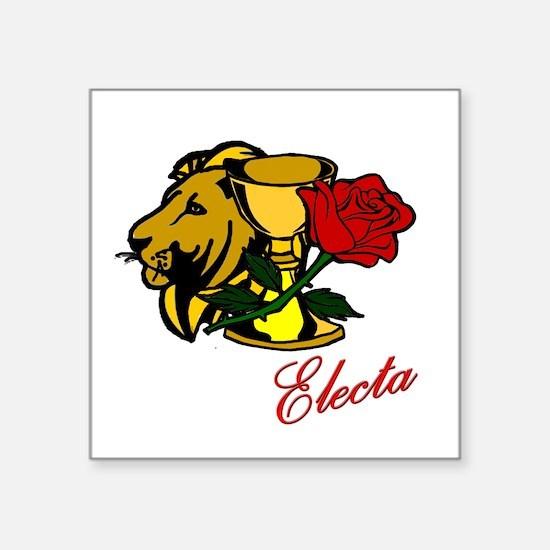 Electa Lion Cup Rose Design Sticker