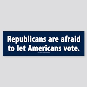 Republican voter supression Bumper Sticker