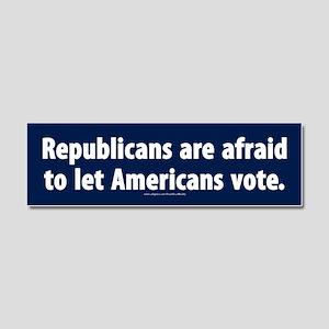 Republican voter supression Car Magnet 10 x 3