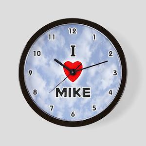 I Love Mike (Black) Valentine Wall Clock