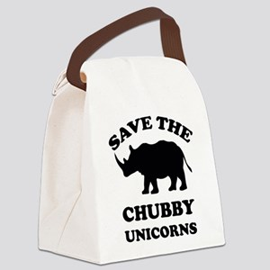 Save the chubby unicorns t-shirt Canvas Lunch Bag