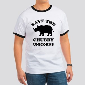 Save the chubby unicorns t-shirt Ringer T