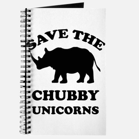 Save the chubby unicorns t-shirt Journal