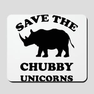 Save the chubby unicorns t-shirt Mousepad
