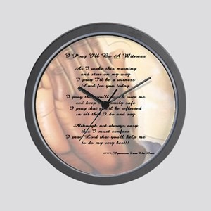 Prayer 52 x 52 Wall Clock