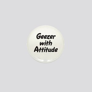 Geezer With Attitude Mini Button