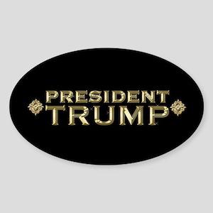 President Trump Full Bleed Sticker (Oval)
