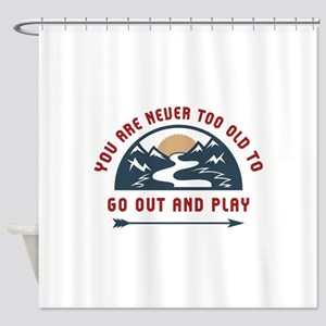 Adventure Go Out And Play Shower Curtain