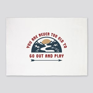 Adventure Go Out And Play 5'x7'Area Rug