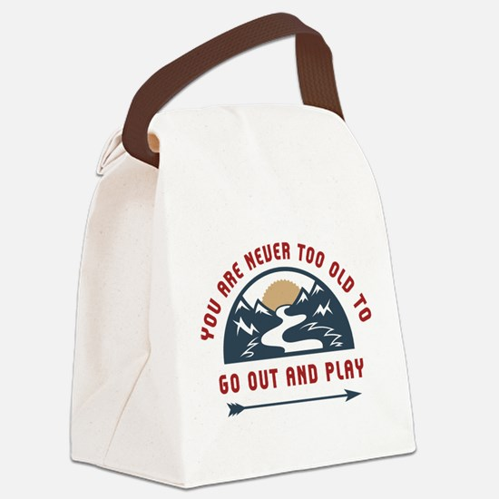 Adventure Go Out And Play Canvas Lunch Bag