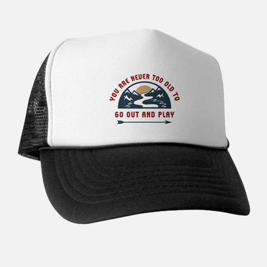Adventure Go Out And Play Trucker Hat