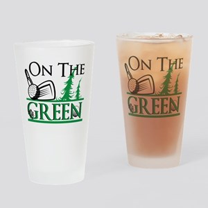 On The Green Drinking Glass