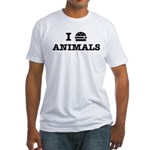 I Love To Eat Animals Fitted T-Shirt