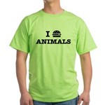 I Love To Eat Animals Green T-Shirt