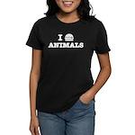 I Love To Eat Animals Women's Dark T-Shirt