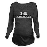 I Love To Eat Animal Long Sleeve Maternity T-Shirt