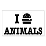 I Love To Eat Animals Sticker (Rectangle)