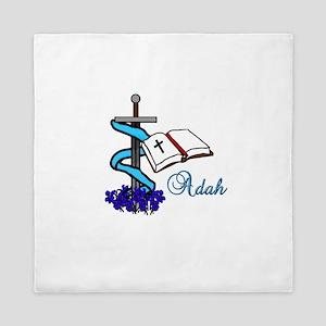 Adah Sword Veil Violet Bible Queen Duvet