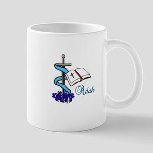 Adah Sword Veil Violet Bible Mugs
