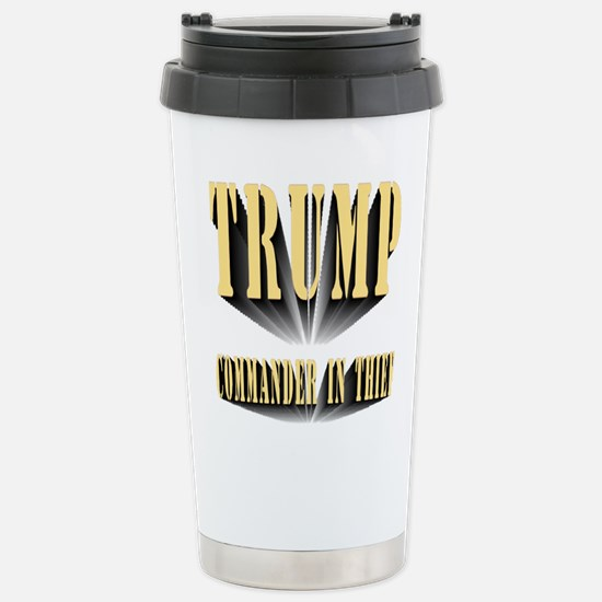 Commander in Thief Stainless Steel Travel Mug