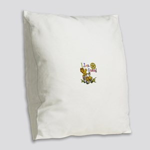 Lion Guard Number One Burlap Throw Pillow