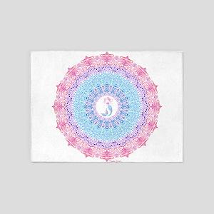 Tribal Mermaid Mandala 5'x7'Area Rug