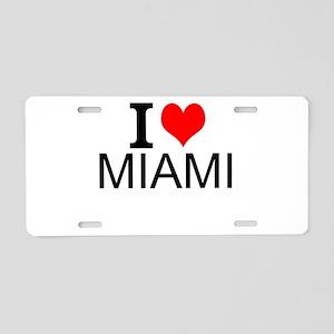 I Love Miami Aluminum License Plate