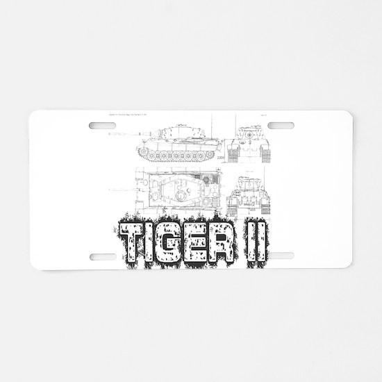 King Tiger Aluminum License Plate