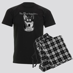 Siberian Husky Happy Face dark Pajamas