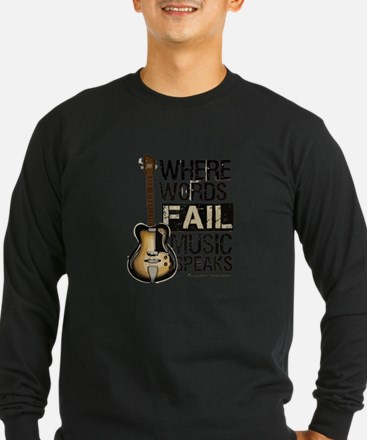 Music Speaks Long Sleeve T-Shirt