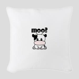 Cute Moo? Woven Throw Pillow