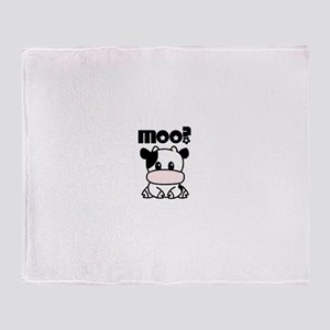 Cute Moo? Throw Blanket