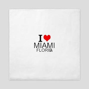 I Love Miami, Florida Queen Duvet
