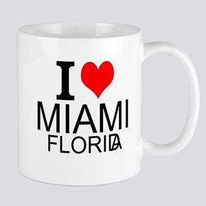 I Love Miami, Florida Mugs