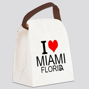 I Love Miami, Florida Canvas Lunch Bag