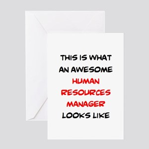 awesome human resources Greeting Card