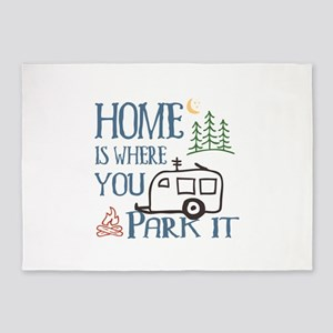 Camper Home 5'x7'Area Rug
