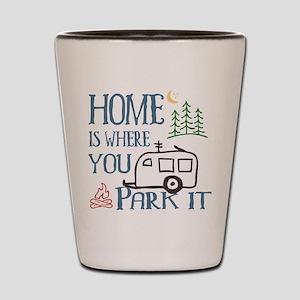 Camper Home Shot Glass