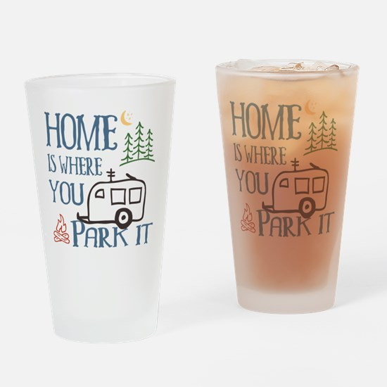 Camper Home Drinking Glass