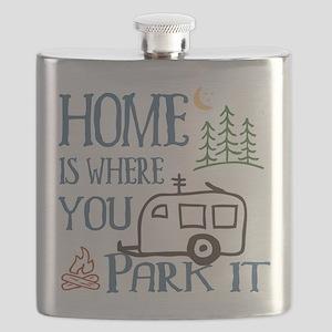 Camper Home Flask