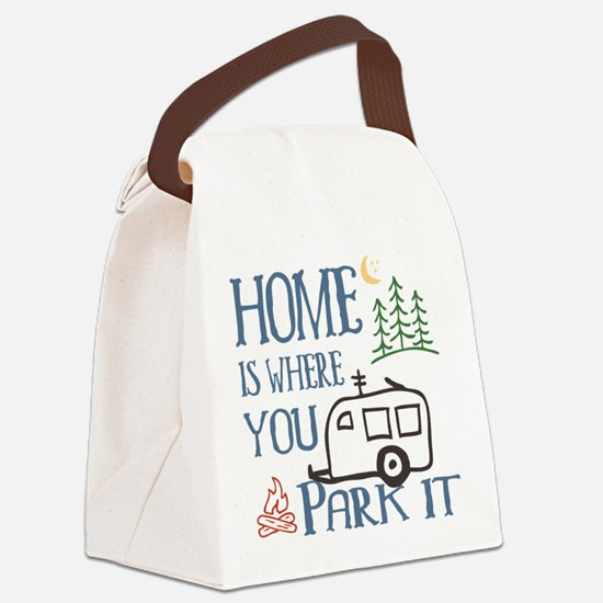 Camper Home Canvas Lunch Bag
