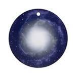 White Universal Light Sacred Round Ornament