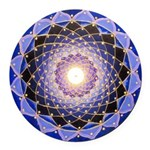 Sacred Geometry Protection Round Car Magnet